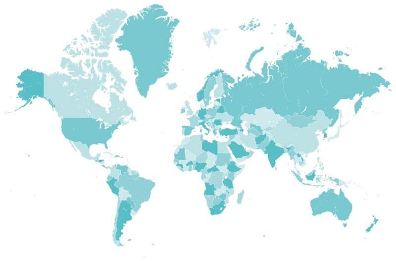 Weltkarte der Social Networks